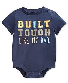 First Impressions Baby Boys' Built Tough Like My Dad Bodysuit, Only at Macy's