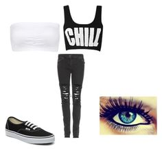 """""""with kellin"""" by unicornsparklez ❤ liked on Polyvore featuring Christopher Kane, Charlotte Russe and Vans"""