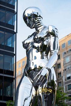 Showing: Hajime Sorayama x Dior Traveling Pop-Up Store « Arrested Motion Cyborg Girl, Female Cyborg, Gravure Illustration, Dior, Robot Girl, Futuristic Art, Cyberpunk Art, Japanese Artists, Retro Futurism