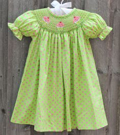 Cupcake Smocked Dress from Smocked Auctions