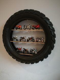 70 ideas motorcycle shop decor boy rooms for 2019 Motorcycle Tires, Motorcycle Shop, Moto Bike, Tire Craft, Car Parts Decor, Tire Furniture, Bike Room, Old Tires, Automotive Decor