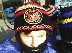 U.S.MARINES BeardedBeanie,MarinesEmbroidered Patch,Handcrafted,BESTQuality,CustomizeAnySize,AnyColor,VelcroBeard&Beanie 4Pefect Fit,GiftIdea by DwedgeCreations on Etsy