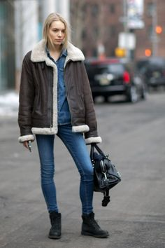 50 Ways to Rock a Shearling Coat Like a Fashion Girl | StyleCaster