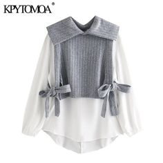 Female Shirts, Cheap Blouses, Blouse Vintage, Wardrobe Ideas, Bows, Clothes For Women, Chic, Long Sleeve, Stuff To Buy
