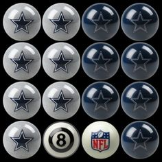 Dallas Cowboys Billiards Pool Table Ball Set - Home vs Away Cowboy Games 6932dce34