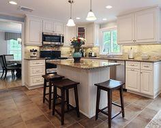 best granite for white kitchen cabinets - Google Search