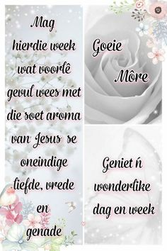 15 Minute Workout, Goeie Nag, Goeie More, Afrikaans Quotes, Morning Quotes, Good Morning, Blessed, Faith, Messages
