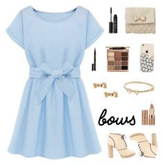 """""""🎀"""" by alli931 ❤ liked on Polyvore featuring Charlotte Russe, Loeffler Randall, tarte, Smith & Cult, Stila, NARS Cosmetics, Kate Spade, Mimi So, cute and simple"""