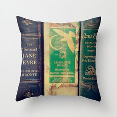 Jane Eyre Pillow  Charlotte Bronte Decor by ApplesandSpindles