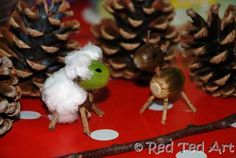 Acorn Animals (not high grade photos, but very cool creative kid craft! worth a look-see!)
