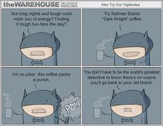 Batman and coffee jokes.just for you I Am Batman, Batman Comics, Batman Dark, Dc Comics, Batman Humor, Superhero Humor, Batman Stuff, Batman Robin, Dc Memes