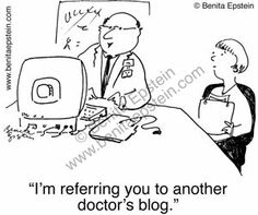 ☤ MD ☞☆☆☆ Find more eMedicine & eHealth Cartoons: pinterest.com/mediamed/20-medical-cartoons/  #humor See more on board ☤ MD ☞☆☆☆ 2.0 Medical Cartoons on MediaMed:  pinterest.com/mediamed/20-medical-cartoons/ [Another doctor's blog. Benita Epstein.]