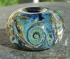 Shimmering Milkyway Galaxy Bead Handmade Boro by BurkhartBeads,