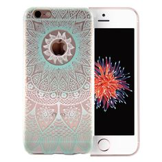 iPhone SE Case Clear, Vect iPhone 5s Case Clear with Design TPU Soft Shock-Absorption Scratch-Resistant Slim Fit Protective Cover for iPhone SE iPhone 5s 4 inch (Mint Mandala) -- Awesome products selected by Anna Churchill