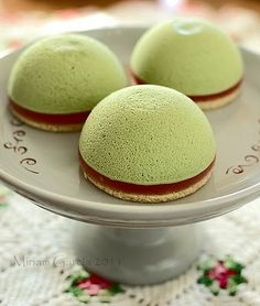 Matcha Tea Mousse Pies