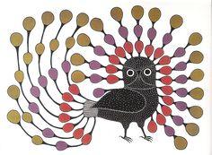 Inuit Art Birds - Illustrious Owl by sumar es, via Flickr
