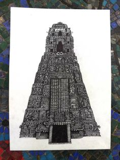 Ancient Temple 3 by David Silberbauer, via Behance