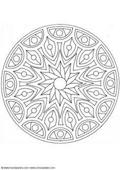 Coloring page mandala-1502m