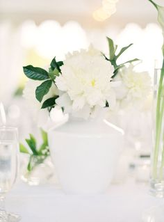 white wedding inspiration | Photography: Jose Villa - josevillaphoto.com