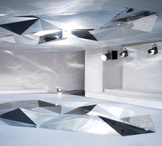 Jil Sander   FW 2013 Space Form Design, Stage Design, Futuristic Lighting, Installation Art, Art Installations, Scenic Design, Modern Sculpture, Art Object, Modern Furniture