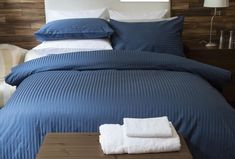 540tc Satin Stripe available in white, ivory, grey & navy from stock.