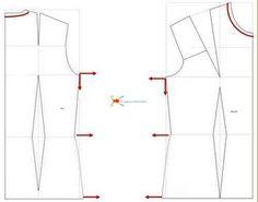 Elargissements du corsage de base.