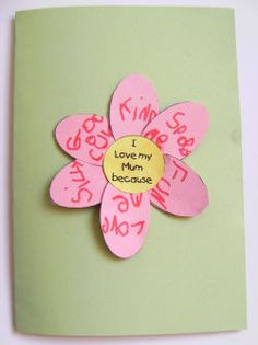 Such a cute home made mothers day card