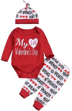 Tronet Baby onesie Infant Baby Boys Girls Valentines Day Clothes Letter Printed Jumpsuit Romper