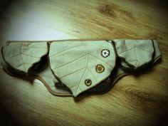 leaf pattern hip bag