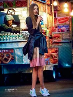 """""""New York State of Mind"""" Kristine Froseth for ELLE Norway March 2015"""
