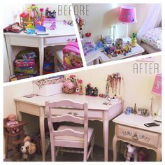 This is a bedroom of my youngest client to date.We used boxes as dividers inside the drawers to keep things tidy. The games and crafts are now stored neatly in the closet to keep out of reach from her younger siblings.  #konmari