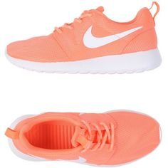 Nike Low-tops & Trainers ($81) ❤ liked on Polyvore featuring shoes, sneakers, coral, round toe shoes, nike shoes, nike trainers, flat shoes and low top