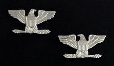 Colonel Eagle Rank Insignia - Small in Silver Plating (Pair) [M/2084-SF] - $7.29 : Fratline Emblematics:, Custom Fraternal Lapel Pins, Masonic Lapel Pins, Masonic Emblems, Masonic Supplies, Fraternal Regalia, Masonic Rings, Masonic Aprons, Masonic Jewelry, Scottish Rite Caps, Knights Templar Uniform Insignia, Masonic Jewelry, Knights Templar, Lapel Pins, Solid Brass, Plating, Eagle, It Is Finished, Pairs