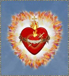 Religious Image/Icon United Hearts of the Holy Trinity+Immaculate Heart of Mary Immaculée Conception, Messages From Heaven, Jesus E Maria, Heart Of Jesus, Image Icon, Christian Friends, Religious Images, Heart Images, Prayer Book