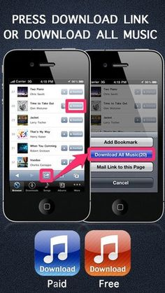 Free Music Download Pro iPhone App - Download music from any site right on your #iPhone or #iPad