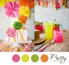 Neon Wedding Colors, Pretty Palettes #28 - PHOTO SOURCE • AMANDA WATSON