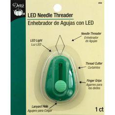 Amazon.com: Dritz LED Lighted Needle Threader, Green