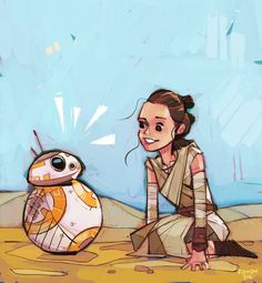 """What started as just a single piece of fanart for Rey from Star Wars: The Force Awakens has grown into a stunning and colorful daily project by illustrator Michael Firman. The project is called """"Rey-a-Day"""" and features Rey in a different piece of art that Firman shares on his Twitter, Instagram, and Tumblr accounts."""
