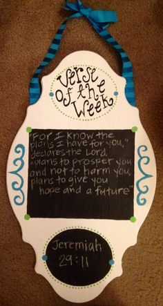 Verse of the week chalkboard!