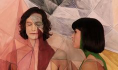 "Painting #Gotye for ""Somebody I used to know"". Visual Art & Music in perfect harmony."