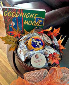 """""""Goodnight, Moon"""" MoonPie Favors at a Build-a-Bookshelf Storybook Baby Shower by Confessions of a Northern Belle"""