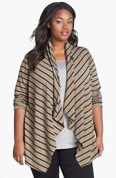 Bobeau Stripe Fleece Wrap (Plus Size) available at #Nordstrom