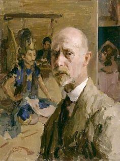 Isaac Israels  (Dutch: 1865 – 1934) - Self Portrait (1917)