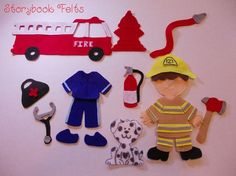 Storybook Felts Felt My Little Fireman / by StorybookFelts on Etsy, $17.00