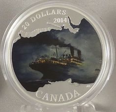 2014 $20 RMS Empress of Ireland Lost Ships in Canadian Waters 1 oz Pure Silver