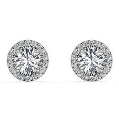 A luxurious pair of stud earrings, made up of glittering diamonds. The Diamond Story blends timeless glamour with modern day wearability to deliver luxuriously fine jewellery.