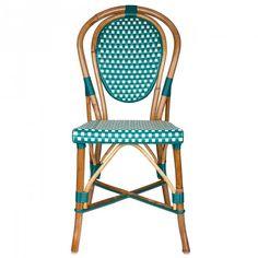 Emerald Green & Cream Mediterranean Bistro Chair (E)