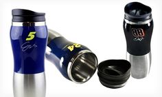 Groupon - $ 9.99 for a 16 Oz. NASCAR Travel Mug ($ 29.99 List Price). Multiple Designs Available. Free Returns.. Groupon deal price: $9.99