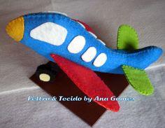 Blog de feltroetecidobyanagomes :FELTRO & TECIDO BY ANA GOMES, AVIÃO TAMANHO M MODELO 001