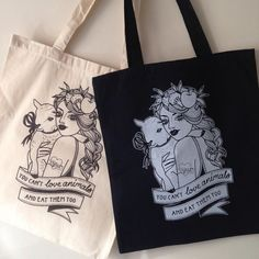 Ethically produced cotton tote bag, printed in the UK. Handle length – 67cm Dimentions – 42 x 38cm  Design by Aimee Lou - Bespoke Tattoo Co,